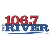 Logo of radio station KRVI The River 106.7