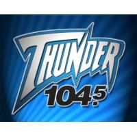 Logo de la radio WGRX Thunder 104.5