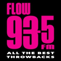 Logo of radio station CFXJ FLOW 93-5