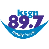 Logo of radio station 89.7 KSGN