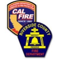 Logo of radio station CAL FIRE and Riverside County Fire