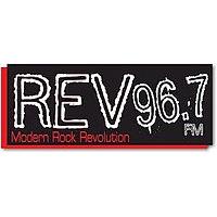 Logo of radio station KZRV REV 96.7