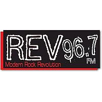 Logo of radio station KZRV REV 96.7