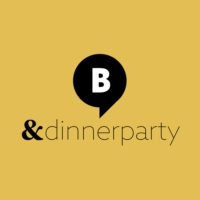 Logo of radio station & Dinnerparty. Von barba radio