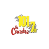Logo of radio station La Comadre 101.7 FM