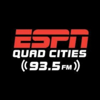 Logo of radio station ESPN 93.5 KJOC