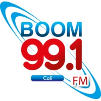 Logo of radio station Boom 99.1 FM