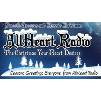 Logo of radio station AllHeart Radio at Christmas