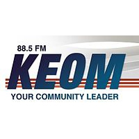 Logo of radio station KEOM