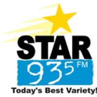Logo of radio station KQCS Star 93.5