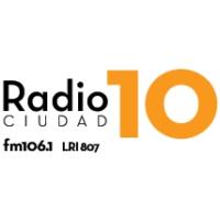 Logo de la radio 10 Ciudad 106.1 FM