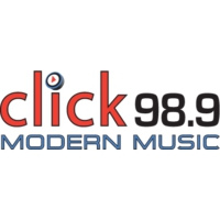 Logo of radio station KLCK 98.9