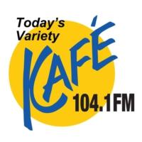 Logo of radio station KAFE 104.1