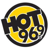 Logo of radio station KEZE Hot 96.9