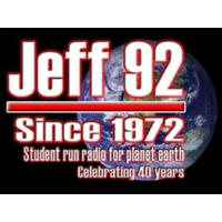 Logo of radio station WJEF Jeff 92