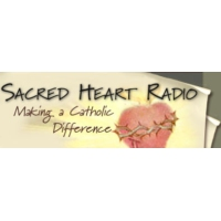 Logo of radio station KBLE Sacred Heart Radio