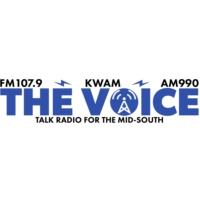 Logo of radio station KWAM The Voice