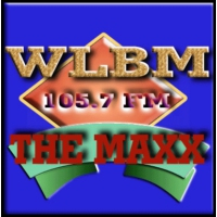 Logo of radio station WLBM 105.7 FM