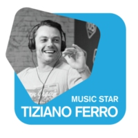 Logo of radio station Radio 105 Tiziano Ferro