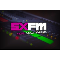 Logo of radio station SXFM