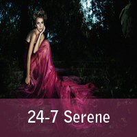 Logo of radio station 24-7 Serene