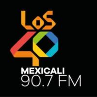 Logo of radio station XHMOE LOS40 90.7