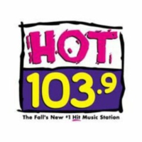 Logo of radio station KQXC Hot 103.9