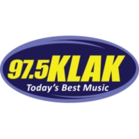 Logo of radio station 97.5 KLAK