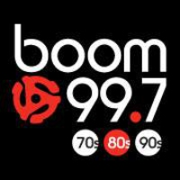 Logo of radio station CJOT Boom 99.7