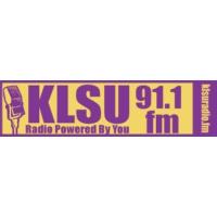 Logo of radio station KLSU