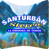 Logo of radio station Santurbán Stereo