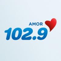 Logo of radio station KLQV Amor 102.9