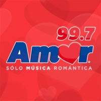 Logo of radio station XHCOC Amor 99.7