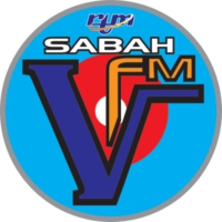 Logo of radio station SABAH V fm