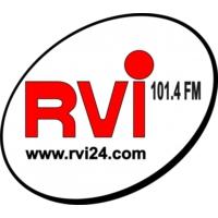 """Logo de la radio RVI """"Radio Vallée de l'Isle"""" 101.4 Fm"""