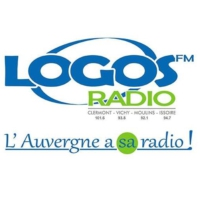 Logo of radio station Logos FM