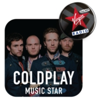 Logo of radio station Virgin Radio Music Star Coldplay