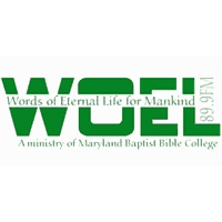 Logo de la radio WOEL Maryland Baptist Bible College 89.9 FM