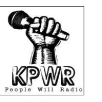 Logo of radio station KPWR