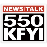 Logo of radio station News Talk 550 KFYI