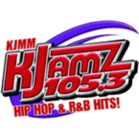 Logo of radio station KJMM Kjamz 105.3