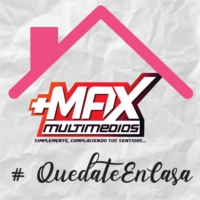 "Logo of radio station Max FM ""Simplemente Complaciendo Tus Sentidos"""