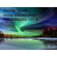 Logo de la radio FM Enigma Tandil 107.5