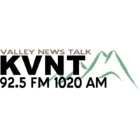 Logo of radio station KVNT Valley News Talk