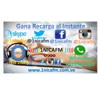 Logo of radio station ((( Radio 1NICAFM )))