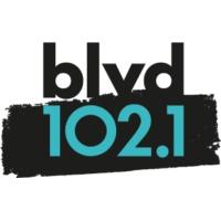 Logo of radio station CFEL-FM BLVD 102.1