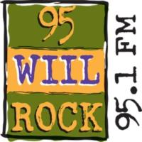 Logo of radio station 95 WIIL ROCK
