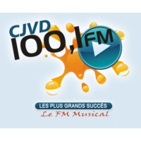 Logo of radio station CJVD 100.1