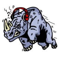 Logo of radio station Rhino Radio