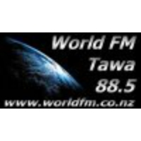 Logo of radio station World FM